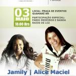 Jamile e Alice Maciel na Festa de Aniversário da cidade de Guamaré.