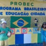 Alunos de Galinhos realizam ações de Cidadania através do PROBEC.