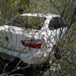 Carro usado por quadrilha que assaltou o Bradesco em Angicos é encontrado no Alto do Rodrigues.