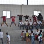 Flagrante: Policia Militar de Assú prende suspeito de tráfico de drogas nos jogos escolares.