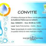 Macau: Entidades e órgãos são convocados pela prefeitura para debater a crise no abastecimento de água.