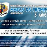 """Banda gospel """"Marca da Promessa"""" promoverá show alusivo aos três anos do ministério de louvor."""
