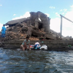 São Rafael: Antiga Igreja vira atração local para se tomar banho.