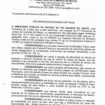 Recomendação do Ministério Público para Macau e Guamaré.