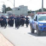 GMs passam por treinamento de condicionamento físico para proteger o patrimônio e manter a ordem pública em Guamaré.