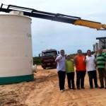 Prefeito Hélio acompanha a chegada dos primeiros equipamentos para montagem da nova ETE.