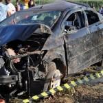 Grave acidente mata três jovens de Baixa do Meio e deixa um ferido na BR 406.
