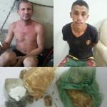 Pai e Filho são presos por tráfico de drogas.