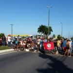 MST bloqueia tráfego na Av. Tomaz Landim, na Zona Norte de Natal.