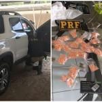 PRF prende três pessoas com mais de R$ 220 mil em drogas no RN.