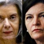 Duas mulheres em defesa da Justiça. Três homens calados